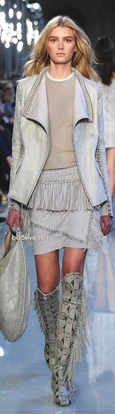 We love when the runway goes western! Salvatore Ferragamo Pre Spring 2013 Oh my oh my!!