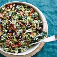Cranberry-Almond Broccoli Salad | http://MyRecipes.com