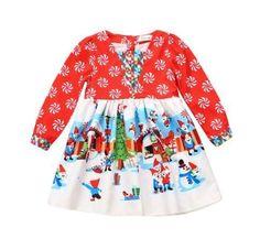 Christmas Boutique Dresses-Holiday Girls Dress-Little Big Shot's Boutique