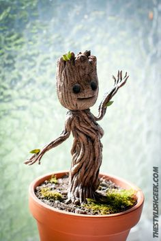 I Am Groot (Making of Baby Groot) | the stylish geek http://www.thestylishgeek.com/2014/08/14/baby-groot-diy/