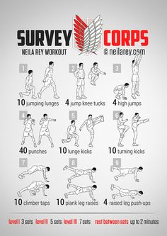 survey corps workout routine