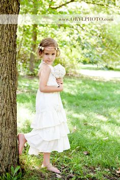 Beautiful Natural Ivory Arm free Ruffled Dress This by LaParisLaur, $60.00