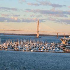 Ravenel Bridge and marina