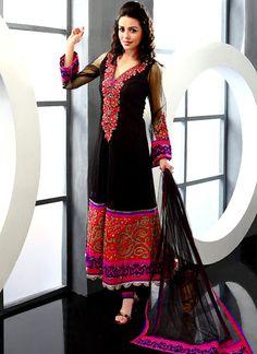 Roses in the basket - Pakistani Shalwar Kameez