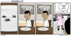 The Adventures of Business Cat   his comic is Hilarious, This one made me think of Wes