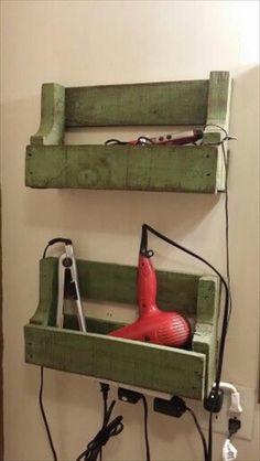 Wood pallet recycled rack diy