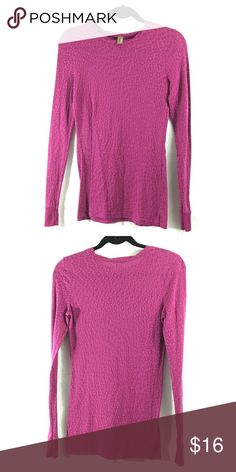 BKE magenta long sleeve Pretty good condition. The size tag is almost coming off, but I will leave it on for you to do what you will with it! Bundle 3+ from me and save 15%, only pay shipping ONCE, and get a free gift! BKE Tops Tees - Long Sleeve