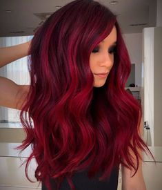 Red Hair Color Shade Ideas for Every Skintone In 2020 Guy Tang S Rich Crimson Red Haircolor formula In 2020 Hair Color Shades, Hair Color Dark, Cool Hair Color, Red Burgundy Hair Color, Magenta Hair Colors, Hair Color With Red, Dark Hair With Red, Red Hair For Fall, Different Red Hair Colors