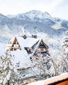 Taki widok z rana❄❄#Zakopane #Góry #śnieg #snow #winter #mountains #vill #villa11 #morning #Poland