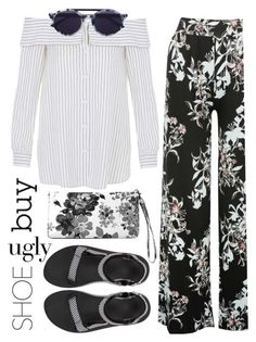 #uglyshoes by katymill on Polyvore featuring polyvore moda style TIBI M&Co Teva Avenue Thierry Lasry fashion clothing