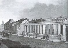 An early century illustation showing the entrance screen of Carlton House in Pall Mall, London. Regency House, Regency Era, Historical Architecture, Architecture Plan, Carlton House, Henry Holland, Urban Design Plan, Pall Mall, Kingdom Of Great Britain