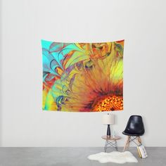Buy Sunflower Abstract Wall Tapestry by Klara Acel. Worldwide shipping available at Society6.com. Just one of millions of high quality products available.
