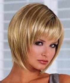 Short Bob Hairstyles For Fine Hair Cool Inverted Gerader Haarschnitt Mit Pony Frisur Hochgesteckt Kurze