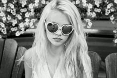 Heart sunglasses...GIMME GIMME GIMME