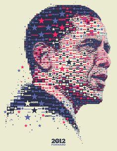 Barack Obama 2012: Yes We Did (again) by Charis Tsevis, via Behance
