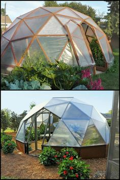 Extend the growing season of your garden by building a stunning geodesic greenhouse!