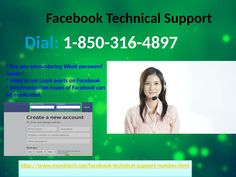 Facebook Technical Support benefit is extremely useful for the clients on the grounds that our experts offer the fulfilled administrations and they never surrender while illuminating the issues. In this way, you can approach 1-850-316-4897 at whenever and anyplace from the globe. For more Detail visit our site http://www.monktech.net/facebook-technical-support-number.html
