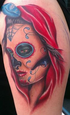 Day of the Dead lady by Jon Goad