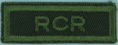 RCR (Royal Canadian Regiment) Green On Olive Non-British Army shoulder title for sale British Army, Commonwealth, Armed Forces, Knives, Weapons, Empire, Guns, Military, Shoulder