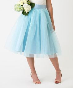 Look what I found on #zulily! Sea Breeze Blue Tulle A-Line Skirt #zulilyfinds