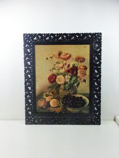 Mid Century Framed Floral Still Life Picture by oliverandlizzie, $20.00