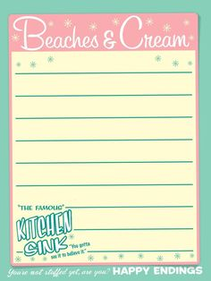 """Beaches & Cream - Project Life Disney Journal Card - Scrapbooking. ~~~~~~~~~ Size: 3x4"""" @ 300 dpi. This card is **Personal use only - NOT for sale/resale** Logos/clipart belong to Disney. ***Click through to photobucket for more versions of this card!!***"""