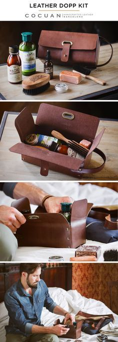 LEATHER DOPP KIT www.cocuan.com