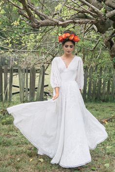 FRIDA  1970's Mexican Cotton Lace Wedding Dress by MaggieMayBridal, $1000.00- size= never eating again