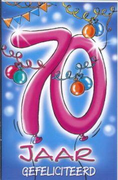 70 Jaar Verjaardag Deurposter A2 Formaat 59 X 42 Cm Deurposter 70