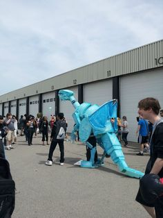This dude made a Blue Eyes White Dragon costume.. - Imgur