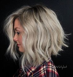 70 Fabulous Choppy Bob Hairstyles Choppy Blonde Lob for Thick Hair Asymmetrical Bob Haircuts, Choppy Bob Hairstyles, Bob Hairstyles For Fine Hair, Beautiful Hairstyles, Bride Hairstyles, Rachel Williams, Dimensional Blonde, Lob Haircut, A Line Haircut