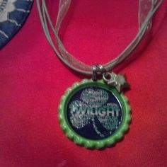 twilight bottle cap necklaces  pick one by Trinketastic on Etsy, $10.00