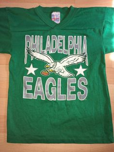 Philadelphia eagles vintage 1990 s kelly green t-shirt youth medium - rare 96528526b