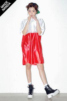 Today's Hot Pick :LUCKY刺绣宽松版拼接连衣裙OPS http://fashionstylep.com/SFSELFAA0026875/stylenandacn/out LUCKY刺绣宽松版拼接连衣裙 100%涤纶 穿着舒服透气 时尚拼接设计穿着更加小巧可爱 共3种颜色,不同颜色演绎不同风格哦~^^