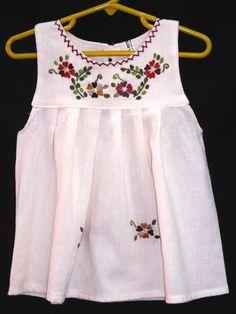 Vestidos para niñas bordados - Imagui