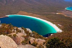 Wineglass Bay Tasmania Australia so beautiful. I wonder how one gets there. Hidden Beach, Beaches In The World, Places Around The World, Tasmania, Dream Vacations, Vacation Spots, Places To Travel, Places To See, Beach Pictures