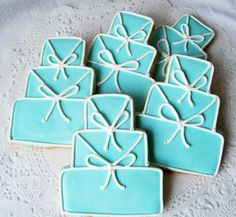 Something Blue Wedding Cake Cookie by LindasEdibleArt on Etsy