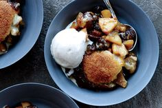 Drop-Biscuit Pear and Dried Cherry Cobbler