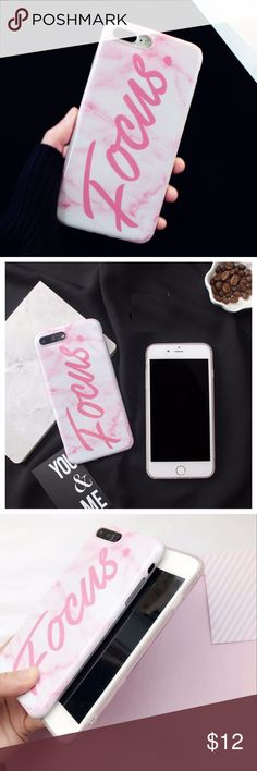 iPhone FOCUS Marble Case Super cute pink/white marble case.  Made with soft TPU material.  Covers all edges and buttons Accessories Phone Cases