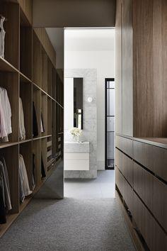 Walk In Robe, Walk In Wardrobe, Bedroom Wardrobe, Wardrobe Ideas, Interior Architecture, Interior Design, Contemporary Bedroom, House Goals, Soft Furnishings