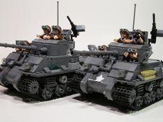 M4A3E8 Sherman Battle Tanks   by PhiMa'