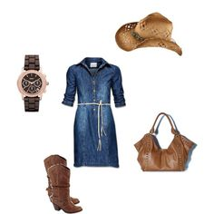 Country style ;) not a big fan of jean shirts but this is cute