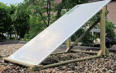 Homemade solar panels.This website offers information about how to build your own solar panels