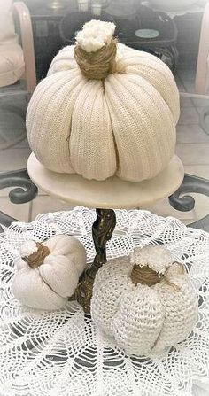 Fall Sweater Pumpkins! How cute is this??