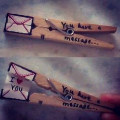 Valentine messages on clothes pins Kids Crafts, Cute Crafts, Craft Projects, Projects To Try, Arts And Crafts, Simple Crafts, Do It Yourself Projects, Creative Crafts, Valentines Bricolage