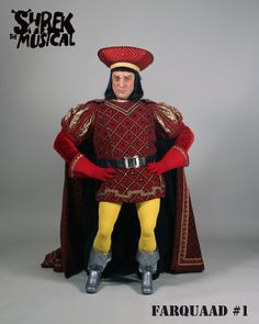 Christopher Sieber as Lord Farquad in Shrek Shrek Costume, Halloween Costumes, Lord Farquaad Costume, Elf The Musical, Sutton Foster, Broadway Costumes, Freak Flag, Costume Makeup, Reaction Pictures