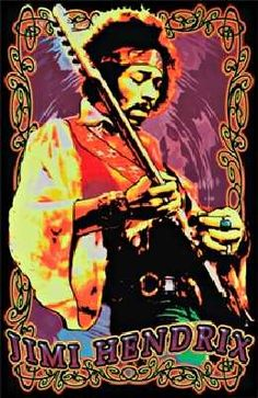 Jimi Hendrix Velvet Black light Poster - Experience Hendrix like never before with this psychedelic themed 23 X 35 Jimi Hendrix Velvet Black light Poster. Rock Posters, Band Posters, Concert Posters, Guitar Posters, Psychedelic Art, Jimi Hendrix Poster, Historia Do Rock, Paper Toy, Jimi Hendrix Experience