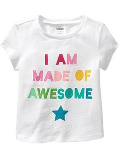Graphic Tees for toddler girl- Because She's made of awesome!