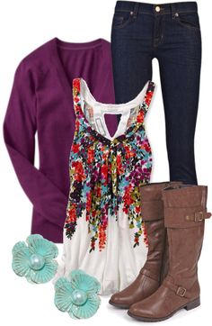 """Floral Cami"" by qtpiekelso on Polyvore"