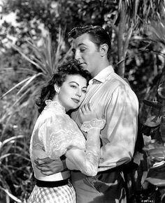 "Robert Mitchum and Ava Gardner in ""My Forbidden Past"""